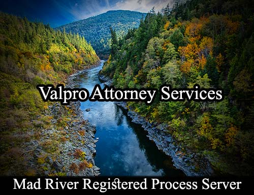 Mad River California Registered Process Server
