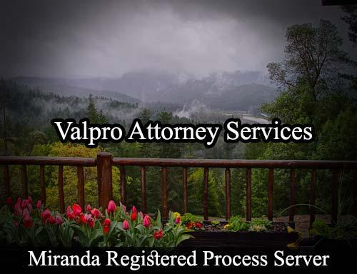 Miranda California Registered Process Server