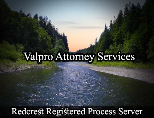 Redcrest California Registered Process Server