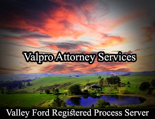 Valley Ford California Registered Process Server