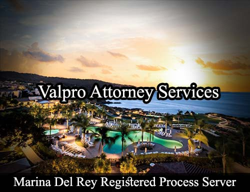 Marina Del Rey California Registered Process Server
