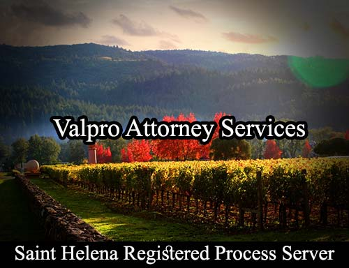 Saint Helena California Registered Process Server