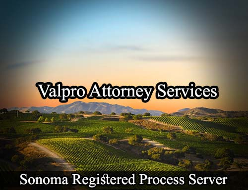 Sonoma California Registered Process Server